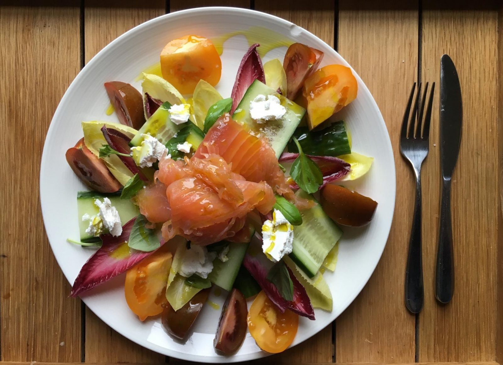 Elevate smoked salmon salad