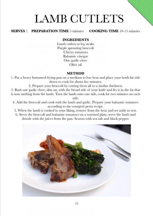 eat and move lamb cutlets