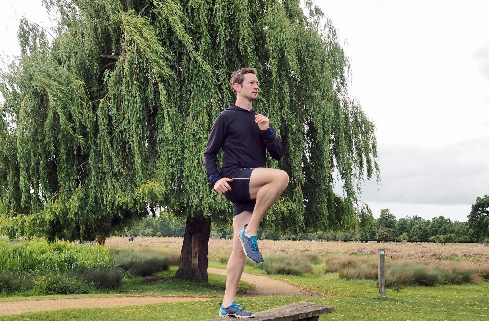 high knee warm up for your PB